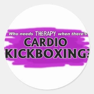 Wer benötigt Therapie, wenn es Herz Kickboxing Runder Aufkleber