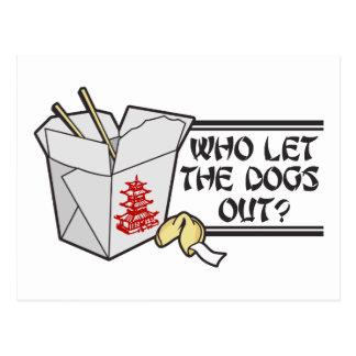 Wer die Hunde heraus ließ Postkarte