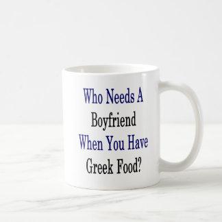 Wer einen Freund benötigt, wenn Sie griechische Kaffeetasse