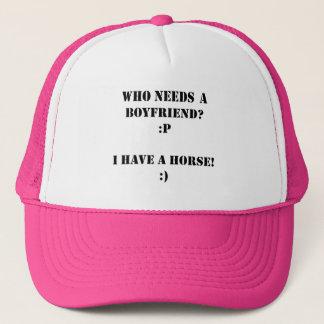 Wer einen Freund ich benötigt, haben Sie ein Truckerkappe