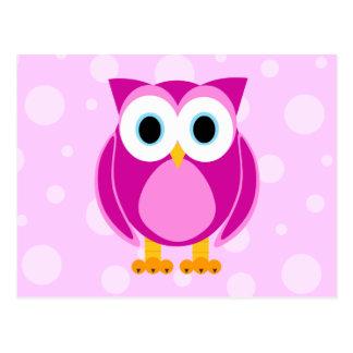 Wer? Frau Owl Cartoon Postkarten