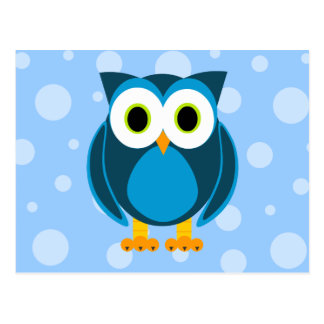 Wer? Herr Owl Cartoon Postkarte