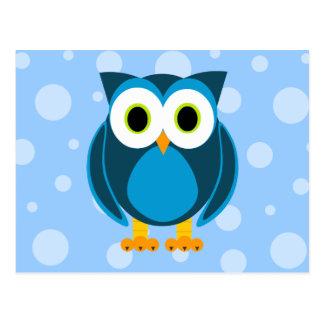 Wer? Herr Owl Cartoon Postkarten