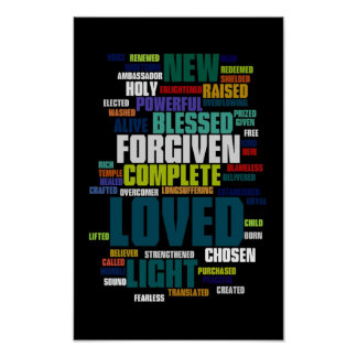 Wer ich in Christus-Plakat bin Poster