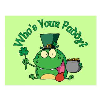 Wer Ihr Paddy-Frosch ist Postkarte