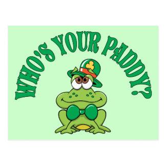 Wer Ihr Paddy-Iren-Frosch ist Postkarte