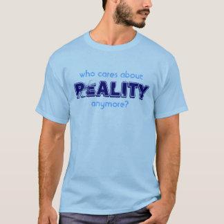 Wer interessiert sich? Blau T-Shirt