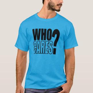 Wer interessiert sich? Ich beendigte! (Karo) T-Shirt