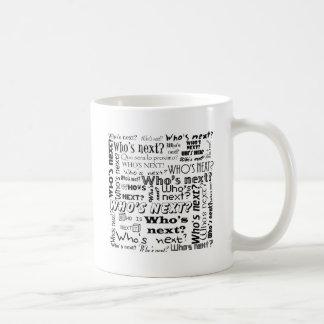 Wer ist folgend? kaffeetasse