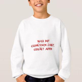 Wer mit Erdnüssen zahlt, erhält Affen Sweatshirt
