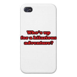 Wer oben für ein unglaublich witzig Abenteuer ist iPhone 4 Etui