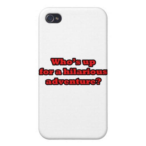 Wer oben für ein unglaublich witzig Abenteuer ist iPhone 4 Schutzhüllen