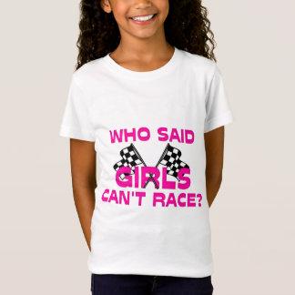 Wer sagte, dass Mädchen nicht laufen können? T-Shirt