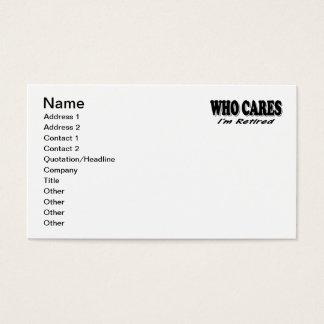 Wer sich interessiert - ich werde zurückgezogen visitenkarte
