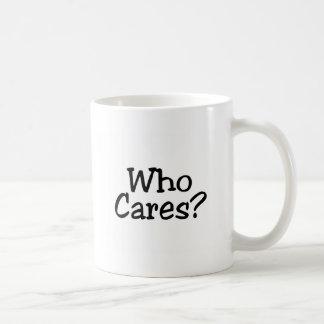 Wer sich interessiert kaffeetasse