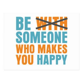 Wer Sie glücklich macht Postkarte