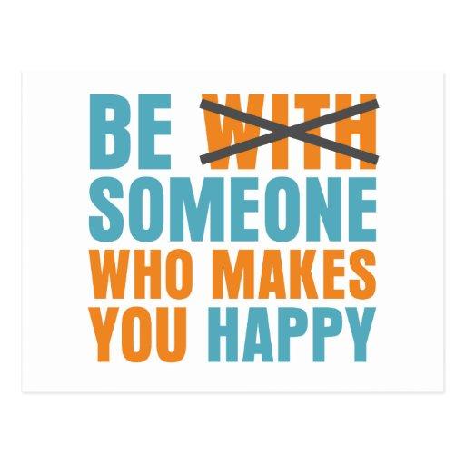 Wer Sie glücklich macht Postkarten