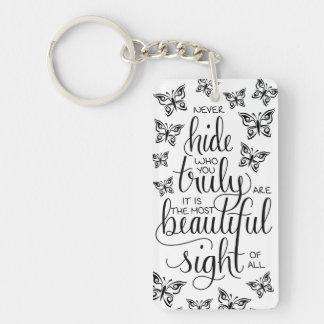 Wer Sie schön sind, Schmetterlings-Schlüsselring Schlüsselanhänger