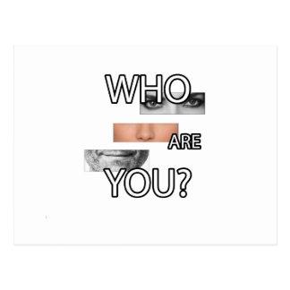 Wer Sie sind Postkarte