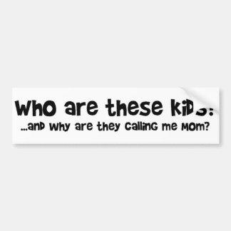 Wer sind diese Kinder? Autoaufkleber