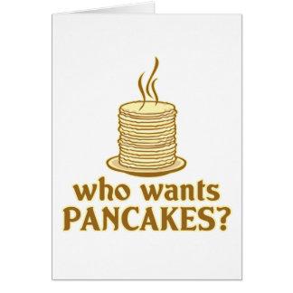 Wer will Pfannkuchen? Karte