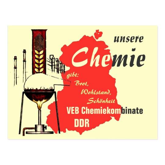 Werbedesign DDR Chemie Postkarte