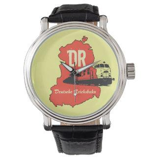 Werbedesign Deutsche Reichsbahn DDR Armbanduhr