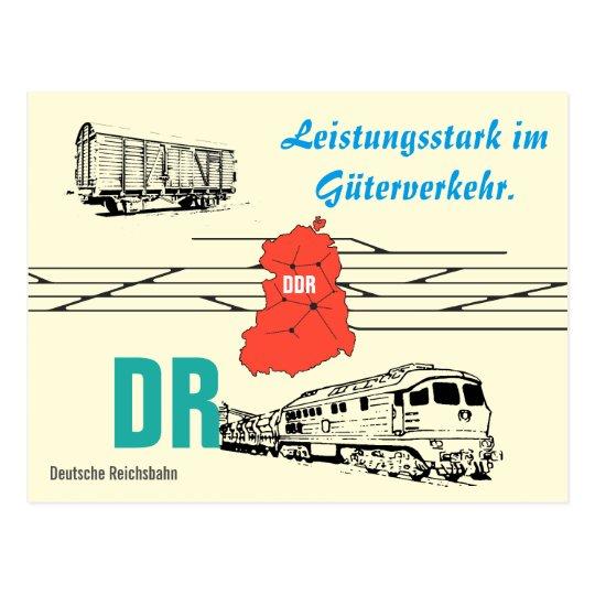 Werbedesign Deutsche Reichsbahn Güterverkehr. Postkarte