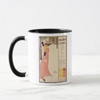 Werbeplakat für 'das gelbe Book Tasse