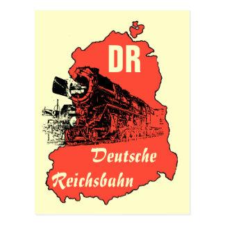 Werbung DDR Reichsbahn Postkarte