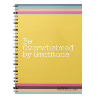 Werden durch Dankbarkeits-Notizbuch überwältigt Spiral Notizblock