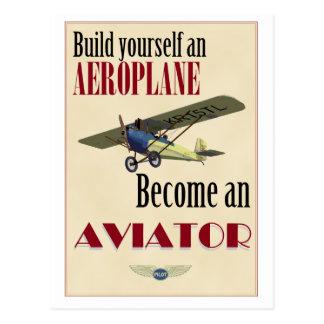 Werden ein Flieger Postkarte