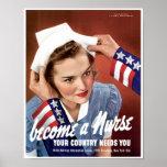 Werden eine Krankenschwester Poster