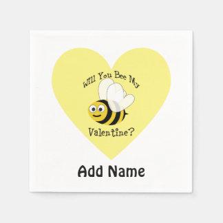 Werden Sie Biene mein Valentinsgruß? Papierservietten