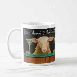 """Werden Sie Bullas-Tasse """"drei Schafe zum Wind """" Tasse"""