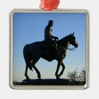 Werden Sie Rogers in den Sonnenuntergang Silbernes Ornament