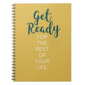 Werden Sie zur Erholung Ihres Leben-Notizbuches Notizblock