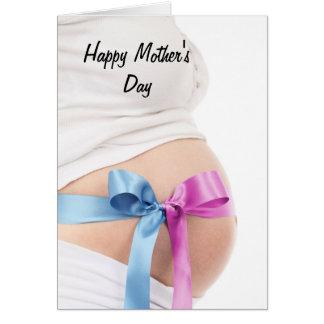 Werdende Mutter der Mutter Tages Grußkarte