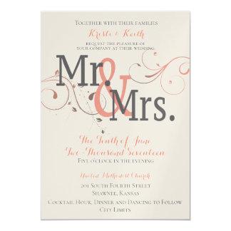 Werdener Herr u. Frau 12x18, das Einladung Wedding
