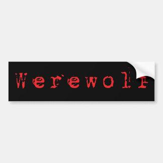Werewolf Autoaufkleber