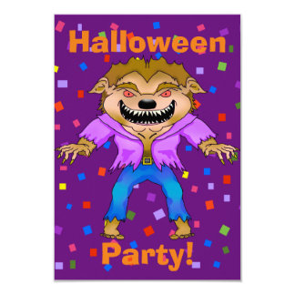 Werewolf-Halloween-Party-Einladung Karte