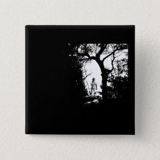Werewolf im Waldknopf Quadratischer Button 5,1 Cm