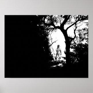 Werewolf im Waldplakat Poster