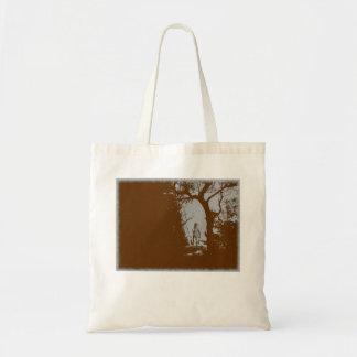 Werewolf in der Waldvariante-Tasche Tragetasche
