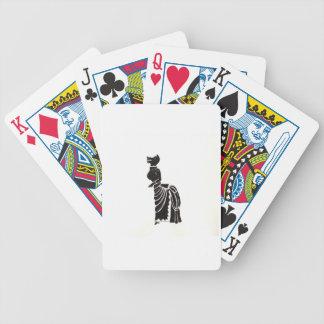 Werewolf in einem extravaganten Kleid Bicycle Spielkarten