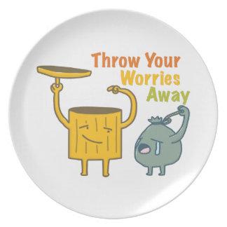 Werfen Sie Ihre Sorge-wegmelamin-Platte Teller