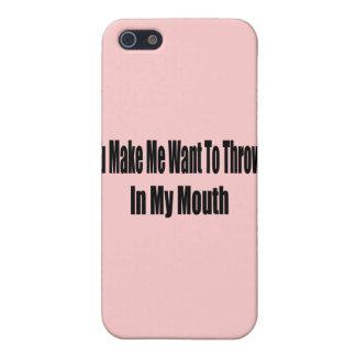 Werfen Sie oben in meinen Mund iPhone 5 Etui