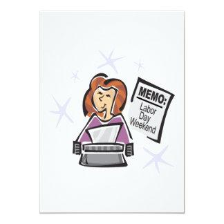 Werktags-Notiz 12,7 X 17,8 Cm Einladungskarte