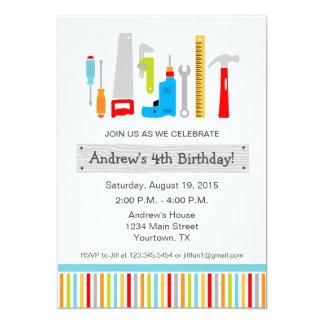 Werkzeug-Geburtstags-Party Einladung