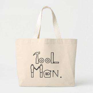 Werkzeug-Mann-Kontur, die Taschen-Taschen zeichnet Jumbo Stoffbeutel
